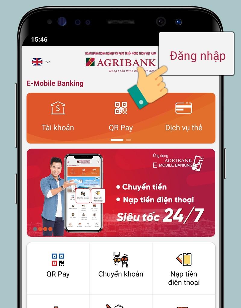 Đăng nhập Agribank Ebanking Mobile