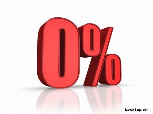 Lãi suất vay ngân hàng 0%