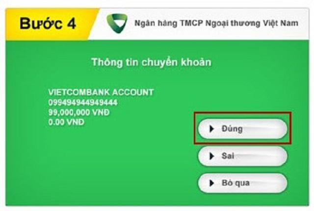 hướng dẫn chuyển tiền từ vietcombank sang agribank