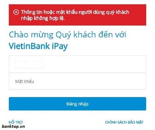 Quên mật khẩu Ipay Vietinbank phải làm sao?