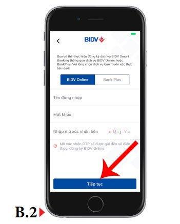 Đăng ký Internet Banking BIDV trên ứng dụng