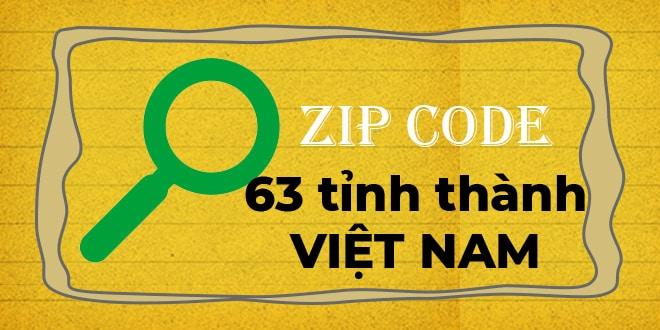 Mã bưu điện 63 tỉnh thành Việt Nam