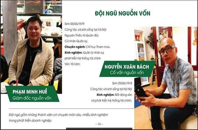 Giám đốc nguồn vốn Phạm Minh Huề