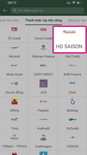 Thanh toán hợp đồng HD Saison qua 5 bước đơn giản