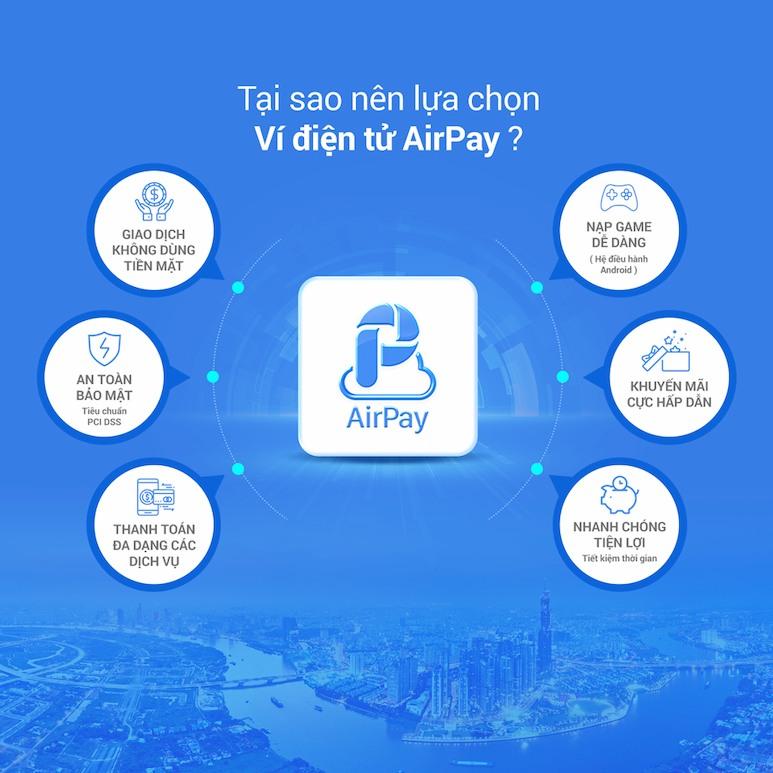 Ưu điểm của ví điện tử Airpay