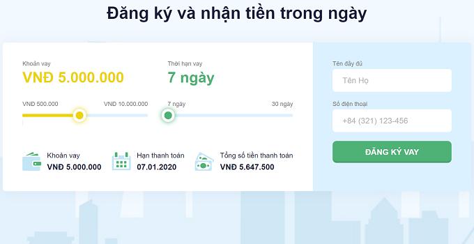 Vay tiền senmo 100% online chỉ cần CMND