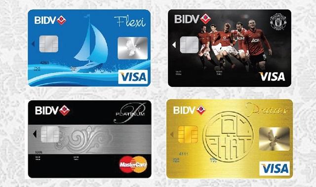 Phân loại thẻ tín dụng BIDV