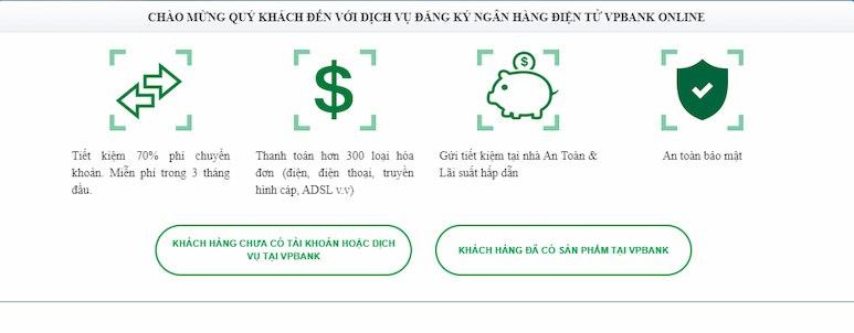 Đăng ký VPBank Online dễ dàng
