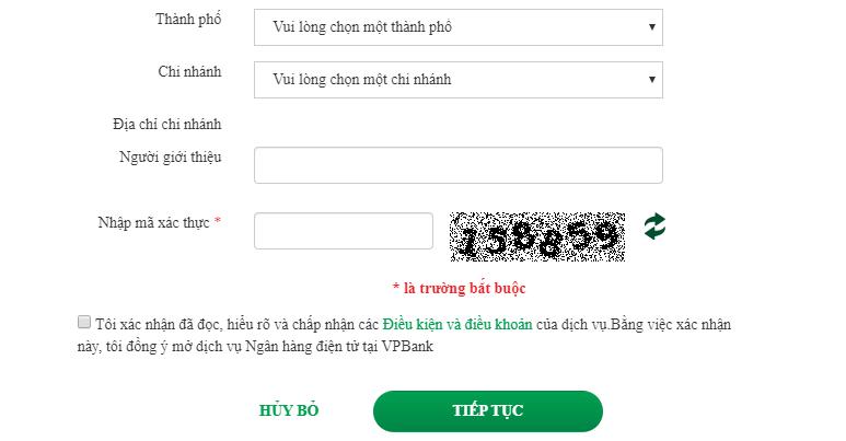 Đăng ký VPBank Online