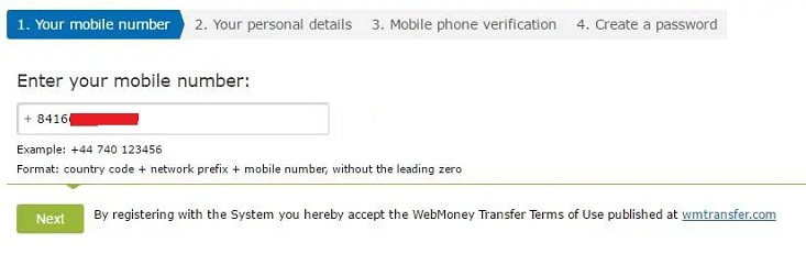 Đăng ký Webmoney