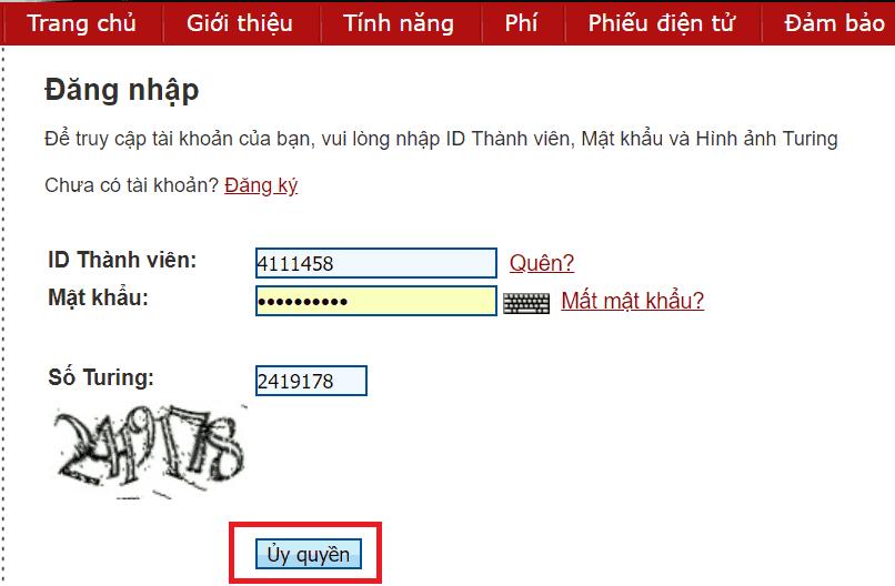 Đăng nhập Perfect Money trên giao diện tiếng Việt