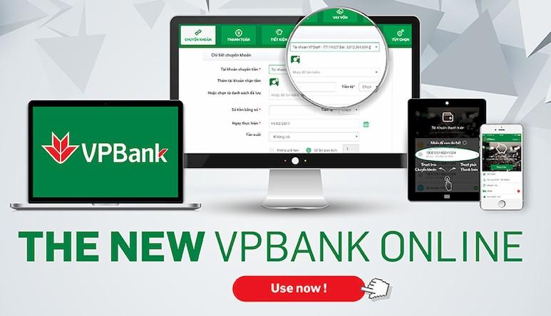 VPBank Online phiên bản mới với nhiều ưu điểm