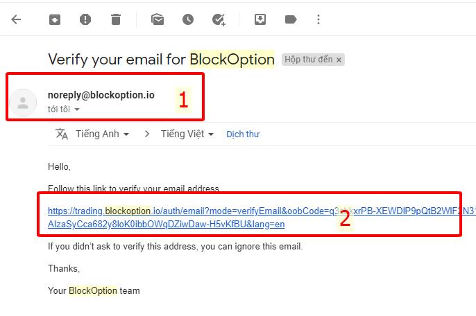 hưỡng dẫn đăng ký tài khoản block option