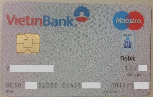 Mã IBAN Vietinbank của một khách hàng tại Đức.
