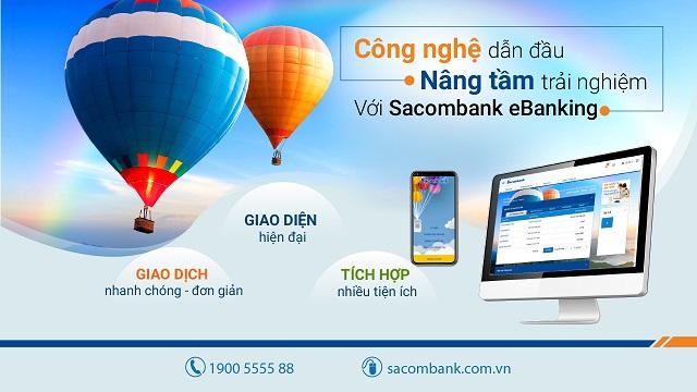 Sacombank eBanking đơn giản hóa mọi vấn đề