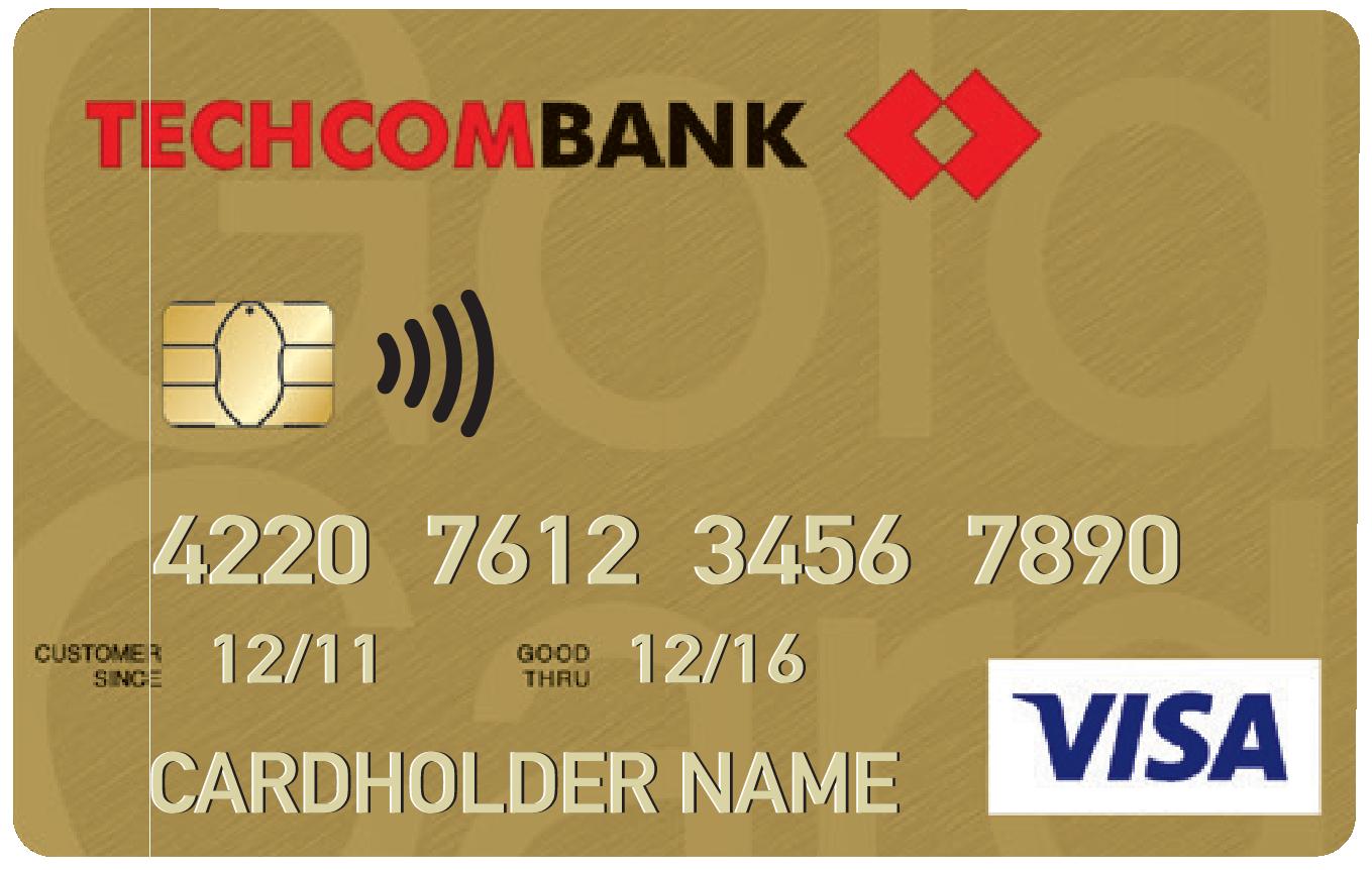 Thẻ tín dụng Vietnam Airlines Techcombank Visa Gold
