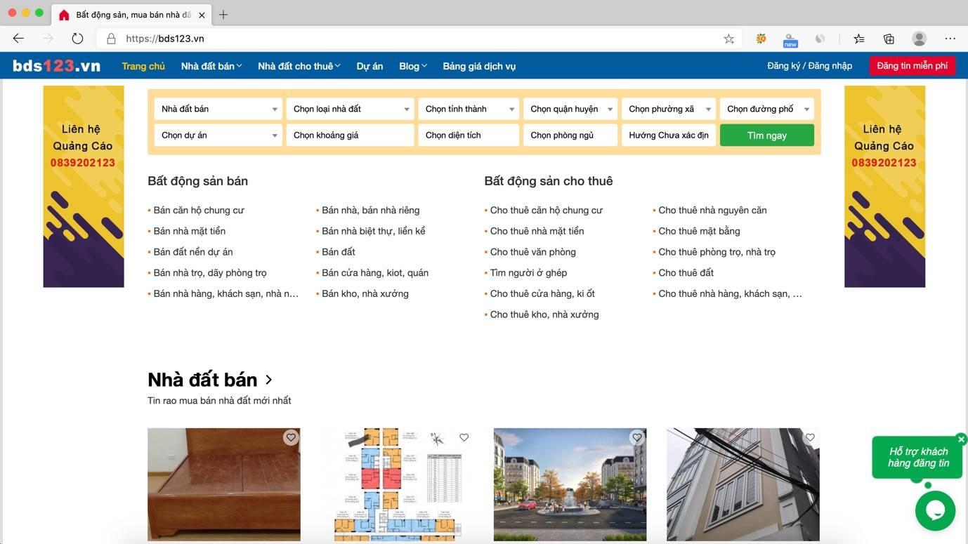 bds123 là website miễn phí đăng tin