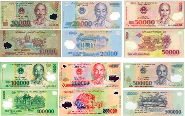 Các mệnh giá tiền polymer được phát hành