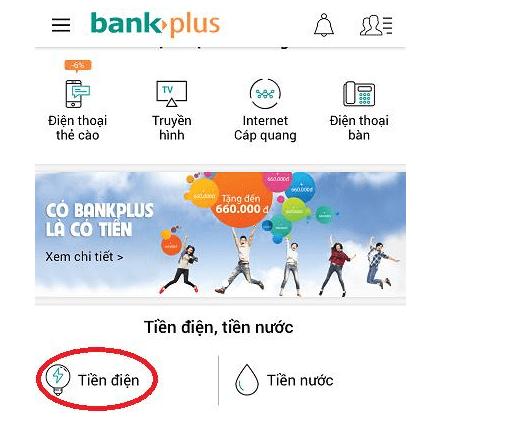 thanh toán tiền điện bằng thẻ tín dụng trên ứng dụng mobile