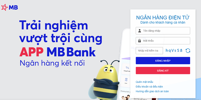 Hướng dẫn đăng ký và sử dụng Internet Banking MBbank Online
