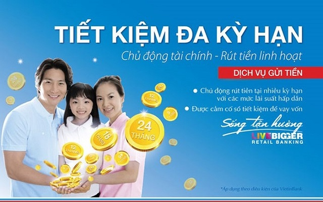 Lãi suất tiền gửi tiết kiệm ngân hàng Vietinbank