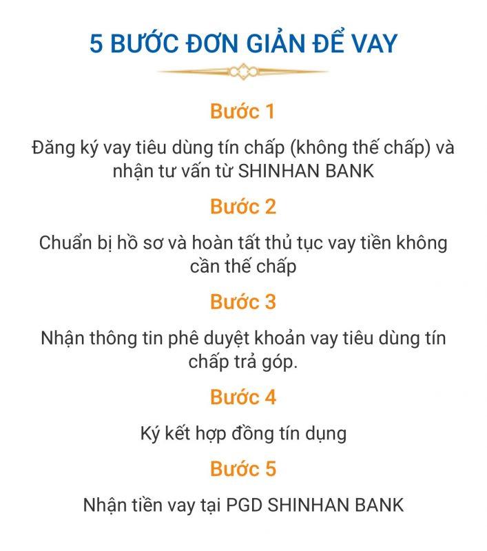 Quy trình vay tín chấp Shinhan Finance