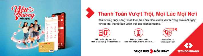 Thanh toán hóa đơn vượt trội với Techcombank