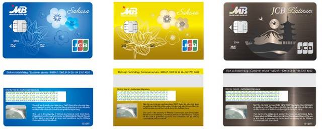 Thẻ tín dụng MB JCB Sakura