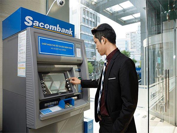 Tra cứu số dư tài khoản Sacombank tại ATM