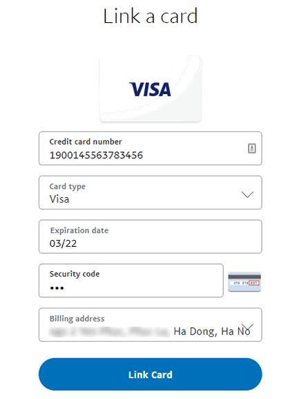 add thẻ visa vào paypal
