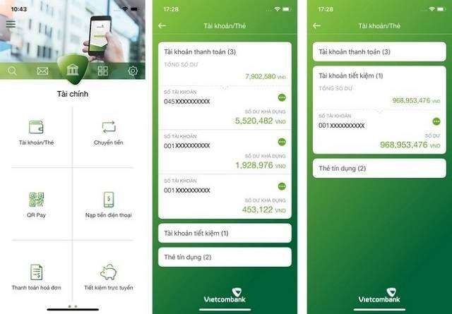 Mở tài khoản tiết kiệm Vietcombank Online