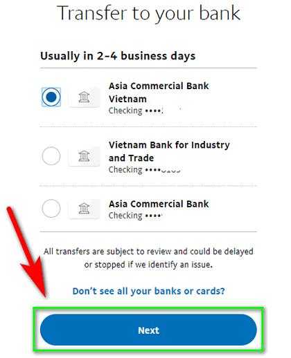Các bước rút tiền từ Paypal về ngân hàng Việt Nam
