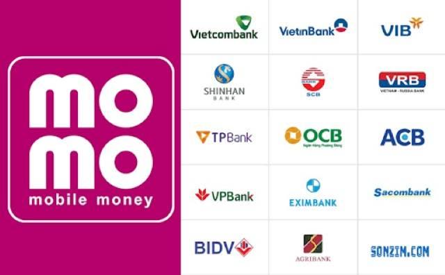 Số lượng ngân hàng cho phép liên kết với momo ngày càng tăng.