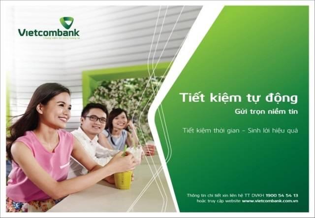 Tiết kiệm tự động với Vietcombank