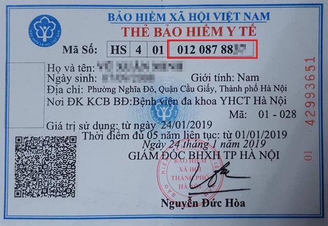 Xem mã số BHXH trên thẻ BHYT