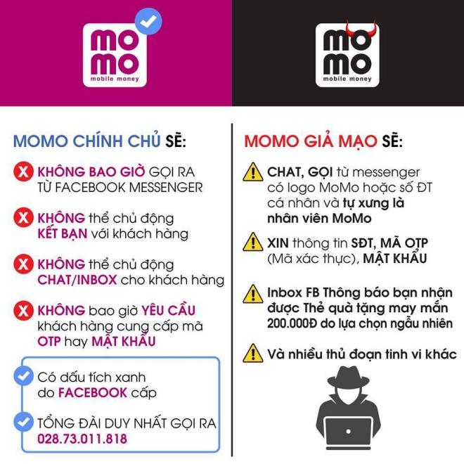 Những biện pháp để tránh mất tài khoản Momo