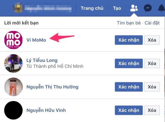 Cảnh báo fanpage lừa đảo ví điện tử Momo