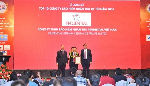 Prudential nhận giải thưởng khuyến mãi bảo hiểm danh giá