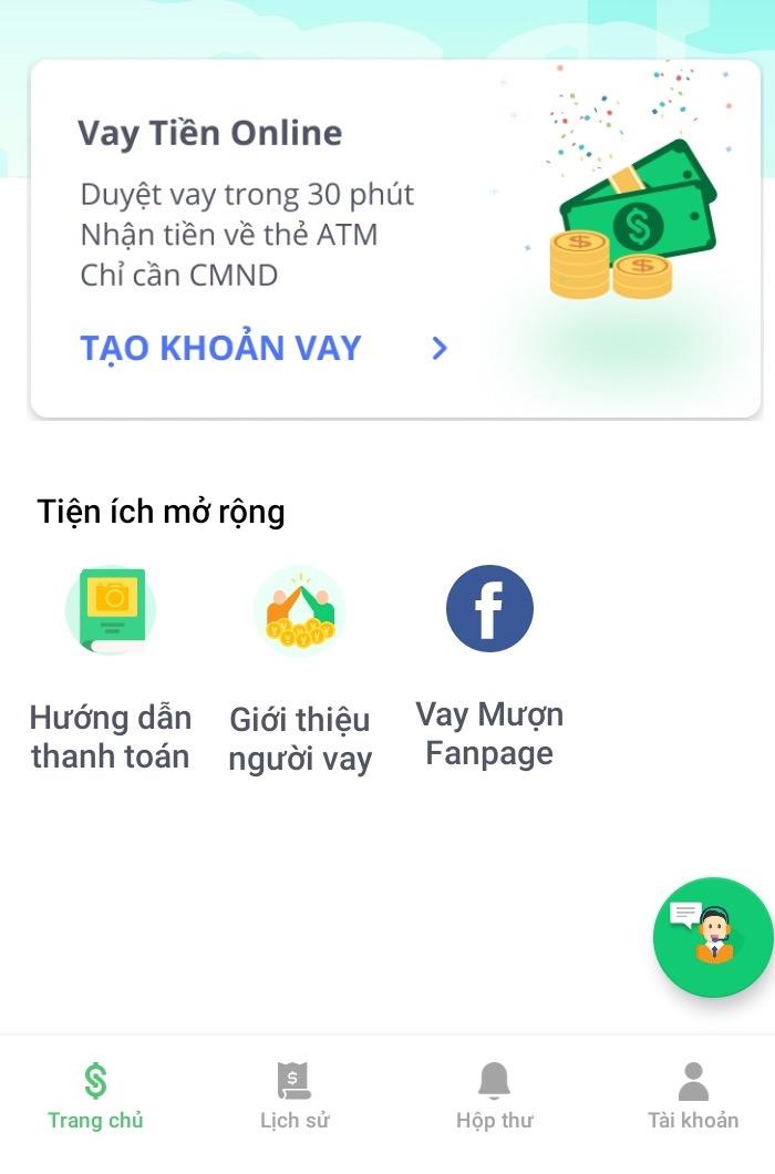 Hướng dẫn vay tiền online tại Vay Mượn
