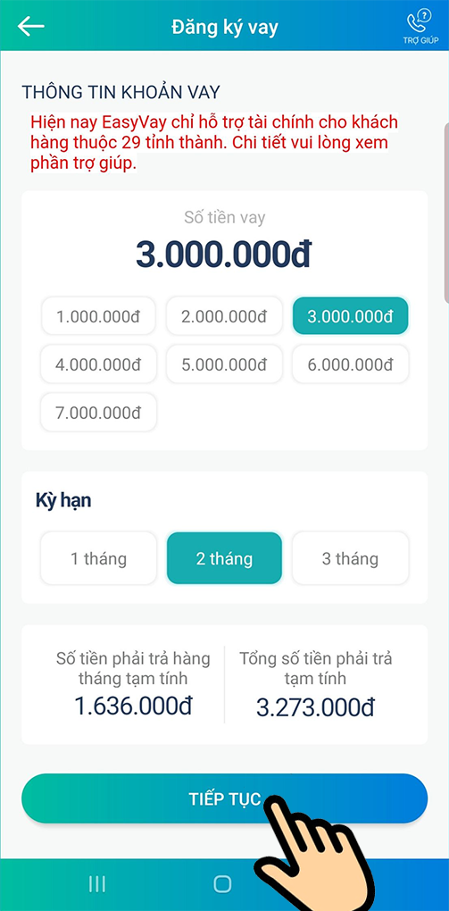 Tham khảo hạn mức vay trên app viettelpay