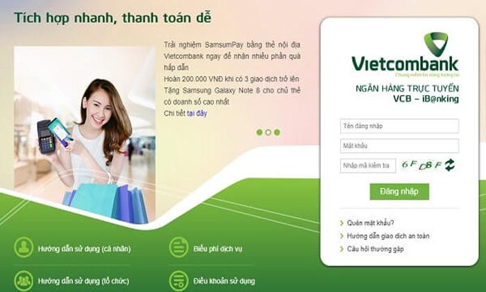 Vietcombank Internet Banking có nhiều ưu điểm nổi trội