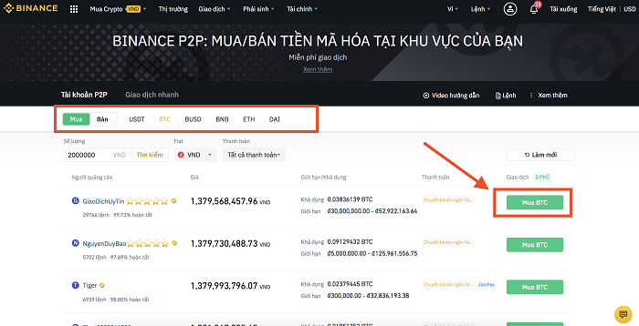 Nạp Coin bằng VND